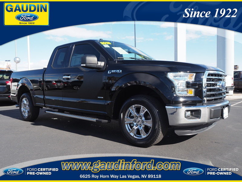 certified pre owned 2016 ford f 150 xlt super cab in las vegas 7t0861a gaudin ford. Black Bedroom Furniture Sets. Home Design Ideas