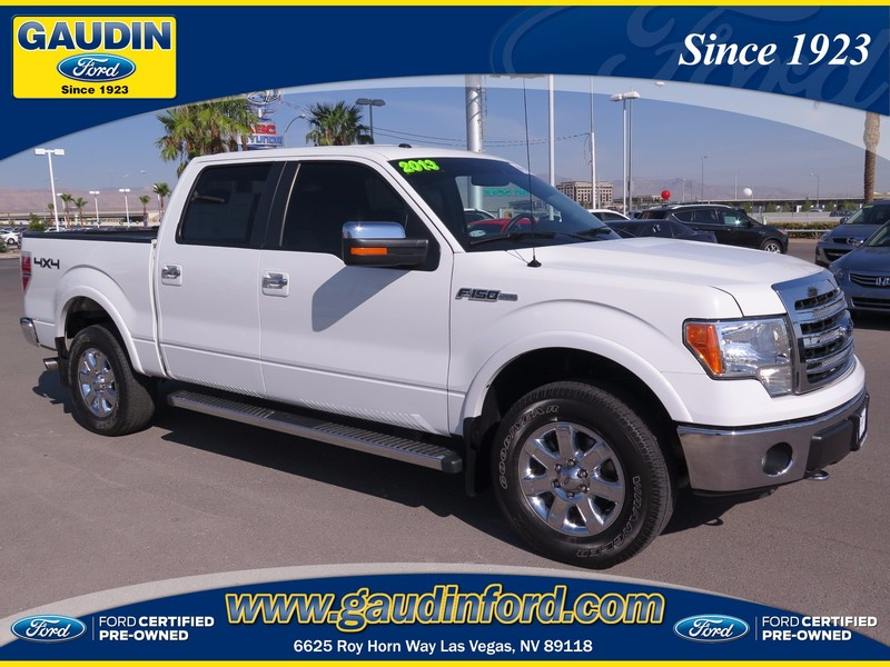 certified pre owned 2013 ford f 150 lariat 4d supercrew in las vegas 5t4125a gaudin ford. Black Bedroom Furniture Sets. Home Design Ideas